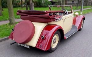 Tatra 75 kabriolet zadek